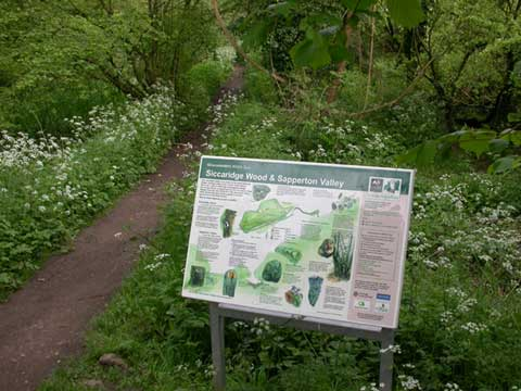 Image  of sign in Sapperton Valley (Glos. Wildlife Trust)